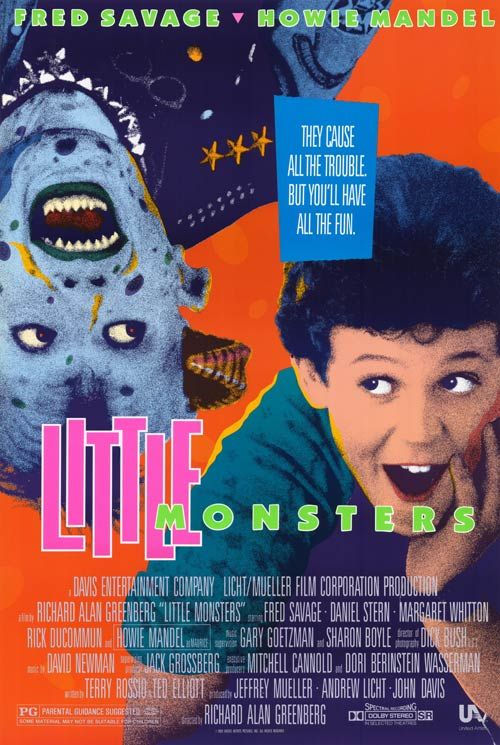 Poster Of Little Monsters 1989 Dual Audio 720p Web-DL [Hindi - English] Free Download Watch Online