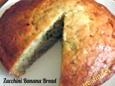 Zucchini Banana Bread Recipe @ treatntrick.blogspot.com