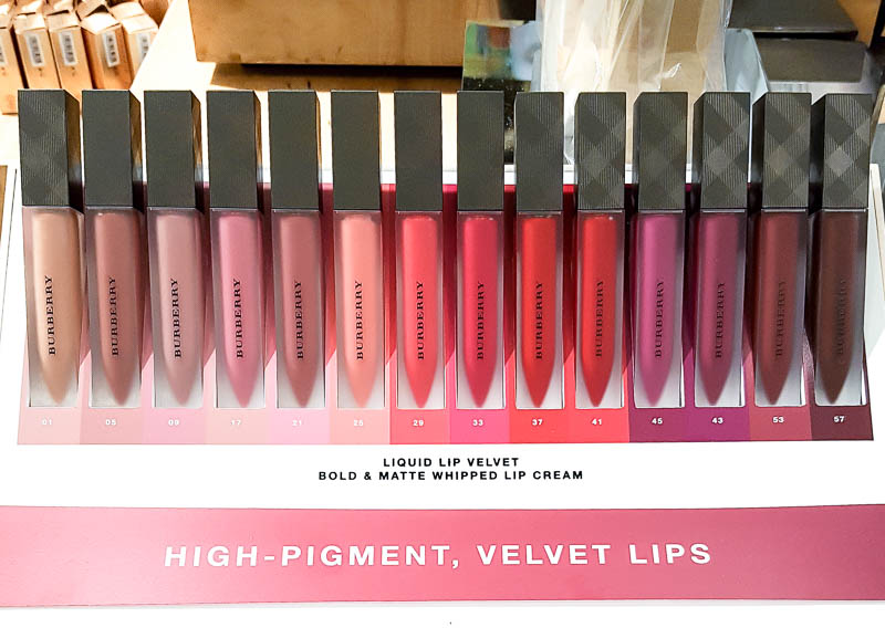 Burberry Liquid Lip Velvet - Spring 2017 - Swatches