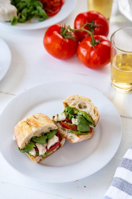 Mini Vegan Caprese Pesto Sandwiches