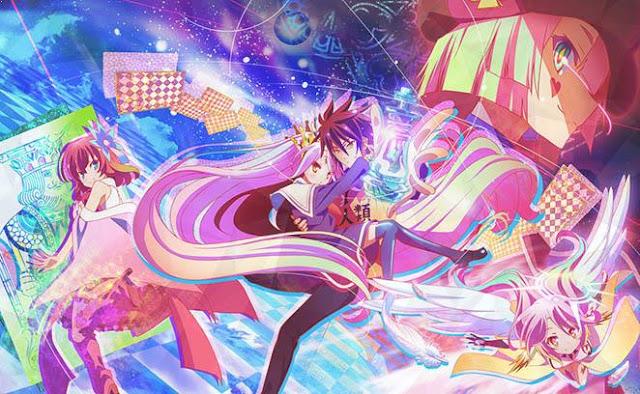 No Game No Life Daftar Anime Isekai (Tokoh Utama Masuk Dunia Lain)