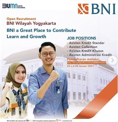Open Recruitment BNI Wilayah Yogyakarta