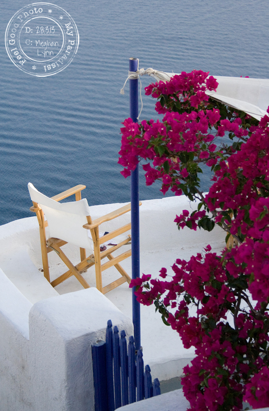 Santorini terrace with an amazing sea view