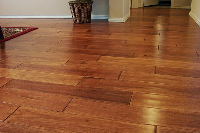 Beautiful hardwood floor adds warmth to any room.