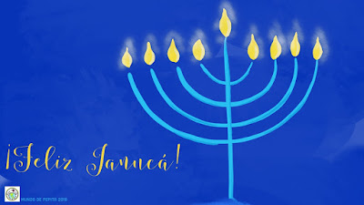 Feliz Janucá Hanukkah E Card in Spanish