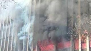 العراق : اندلاع حريق في احد طوابق مستشفى الحلة الجراحي