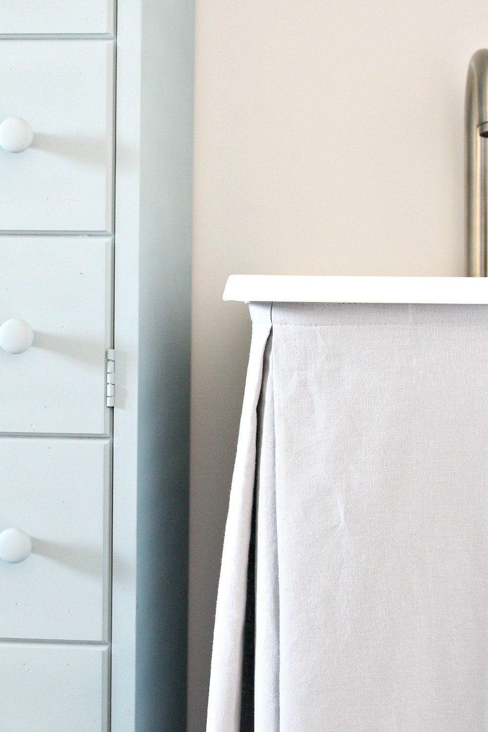 DIY Laundry Tub Sink Skirt