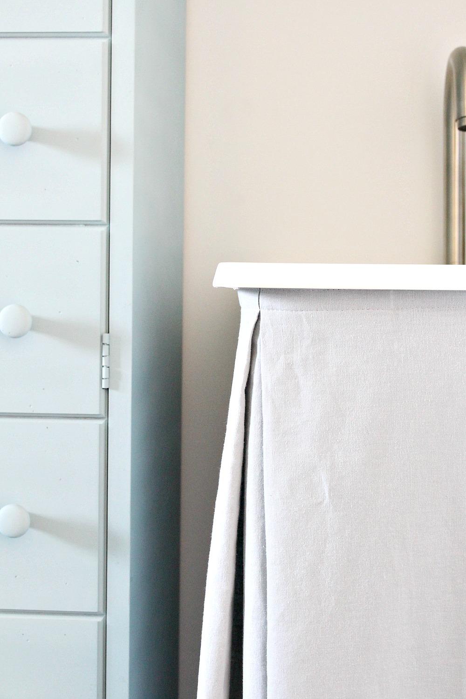 DIY Laundry Tub Sink Skirt