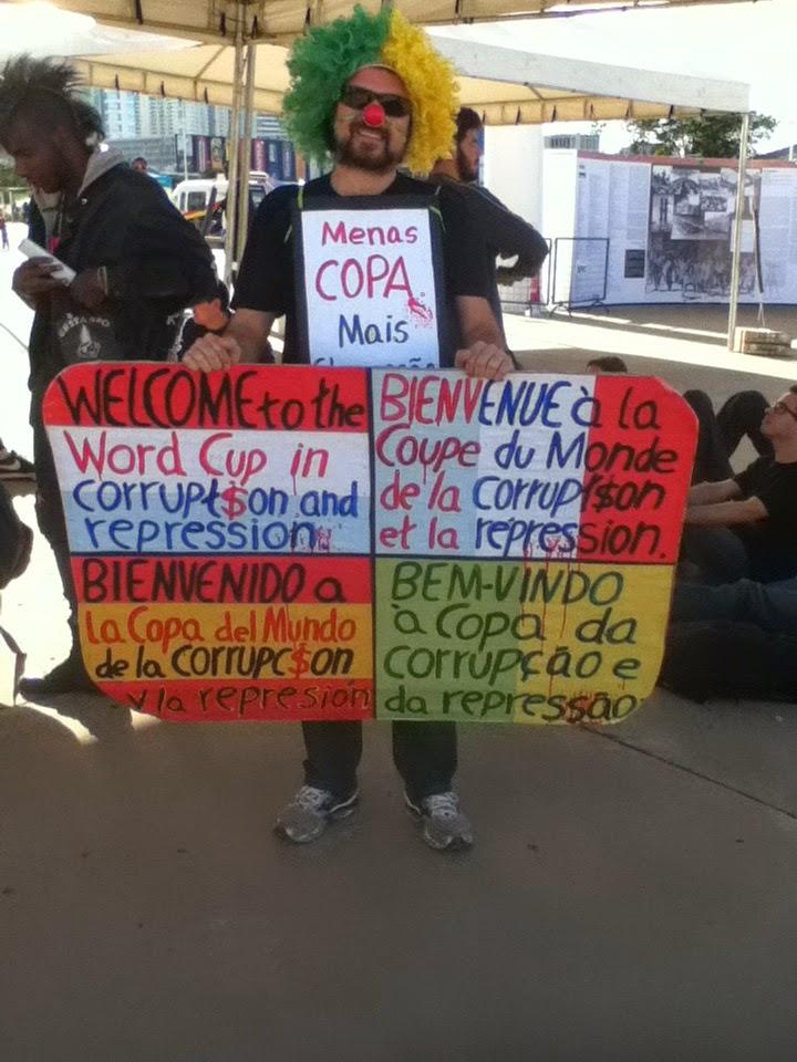 Protester in Brasilia, Brazil