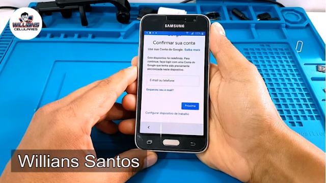 Aprenda como Desbloquear a Conta Google Samsung Galaxy J1 2016, SM-J120, J120H.
