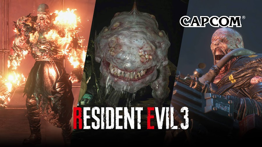 resident evil 3 remake nemesis tyrant grave digger gamma hunter γ t-virus survival horror capcom ne-α type parasite pc steam ps4 xb1 screenshots leaked