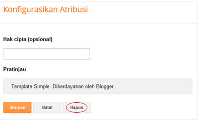 Cara Menghapus Atribution Blogger