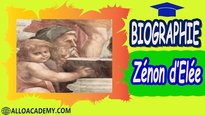 Zénon d'Elée (vers 480 - 420 av. J.C.)- biographie autobiographie autobiographie livre écrire une autobiographie biographie a lire autobiographiques livre autobiographique gratuit