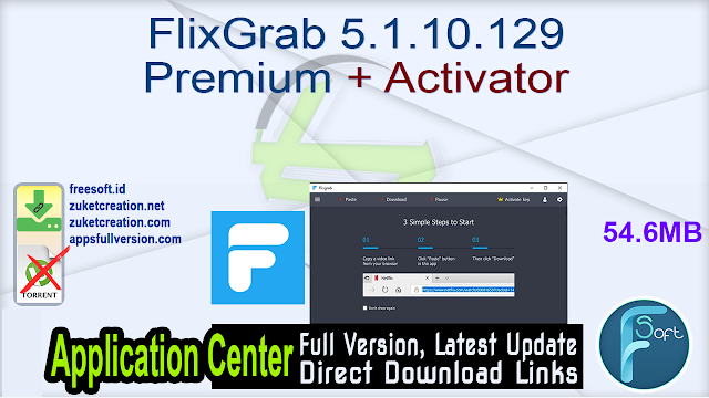 FlixGrab 5.1.10.129 Premium + Activator