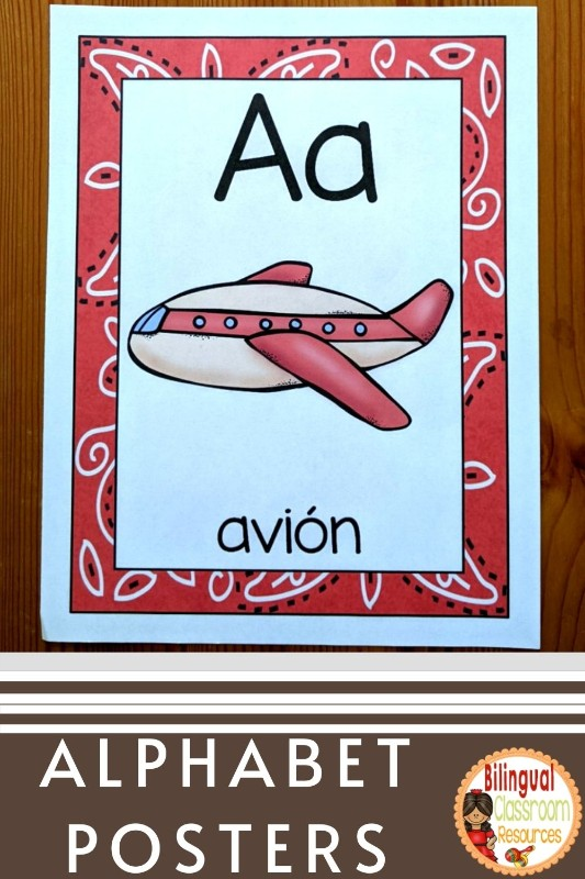 Alphabet Posters in Spanish l El alfabeto l Editable