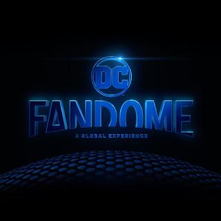 Fandome logo - the word written in blue on black in an arch shape.