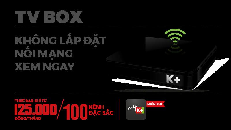Trọn bộ thiết bị K+ TV BOX ở TPHCM