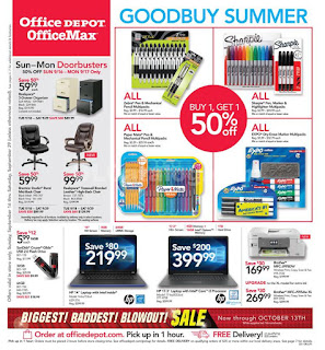 Office Depot Weekly Ad September 23 - 29, 2018