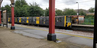 Tyne and Wear Metro train at Monkseaton.