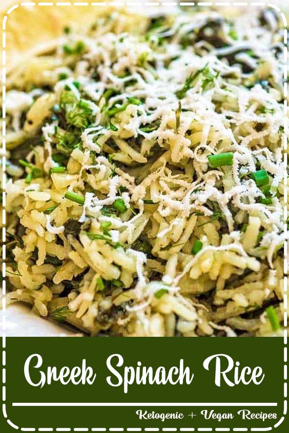 makes a filling vegetarian meal or a side dish Greek Spinach Rice