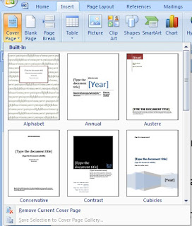 What is Cover Page in MS Word and its use in Hindi