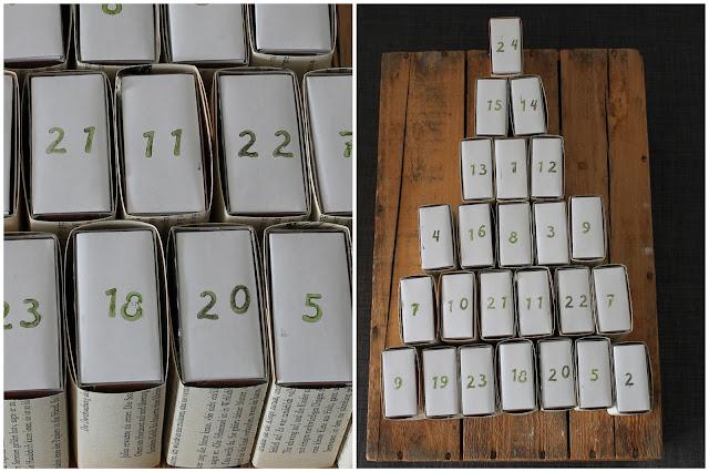 DIY Adventskalender Streichholzschachteln Jules kleines Freudenhaus