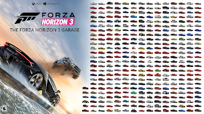350+ vehicles that will be arriving for Forza Horizon 3 at launch