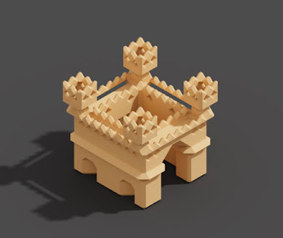 Marching Cubes shape in MagicaVoxel