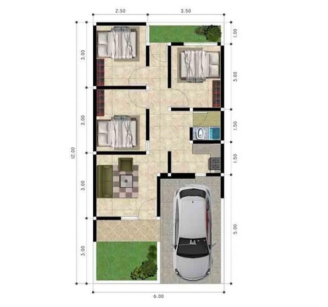 3 room house design plus mosque