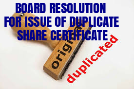 Board-Resolution-Issue-of-Duplicate-Share-Certificate