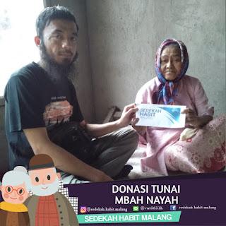 Mbah Nayah : Donasi Tunai