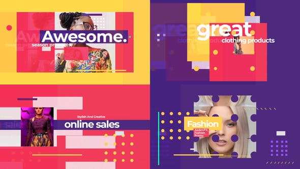 Videohive Fashion Colorful Intro 25352445