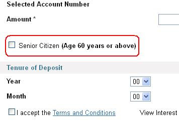 SBI Recurring Deposit Senior Citizen