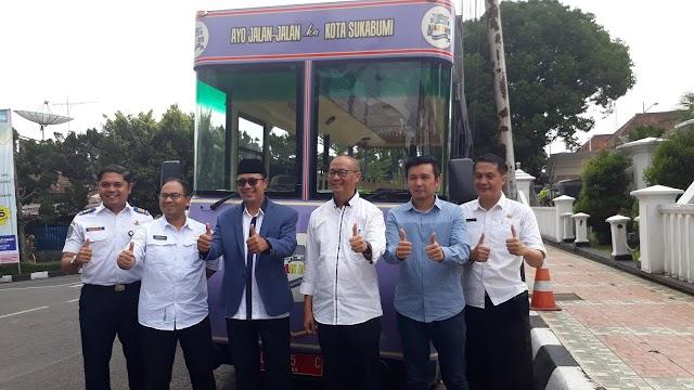 Dua Bus Ajak Kami Optimal Sosialisasikan Wisata Sukabumi