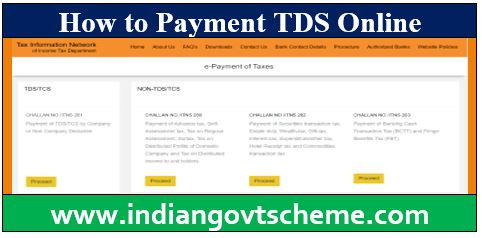 How to Payment TDS Online