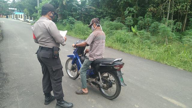 Polsek Awang Laksanakan Kegiatan Ops Yustisi