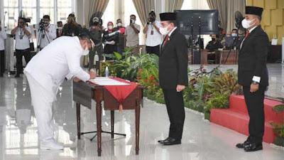Gubernur Edy Rahmayadi Lantik Surya - Taufik Zainal Abidin Sebagai Bupati dan Wakil Bupati Asahan