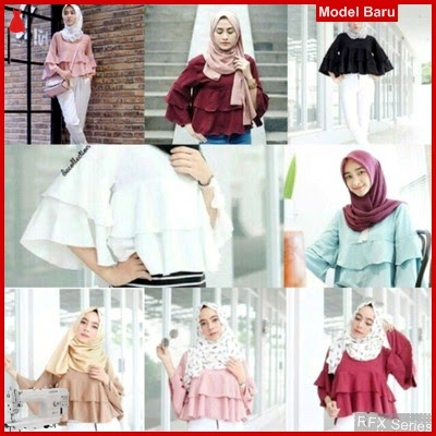 RFX002 MODEL YUKKY RUFLE BAHAN TWISCON HALUS FIT L MURAH ONLINE