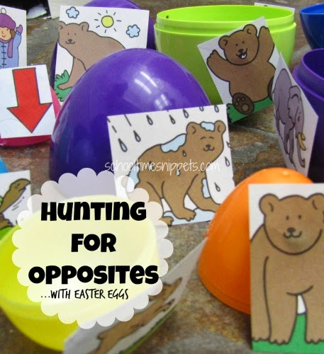 preschool opposites game
