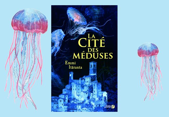 Montage couverture du livre / méduses.