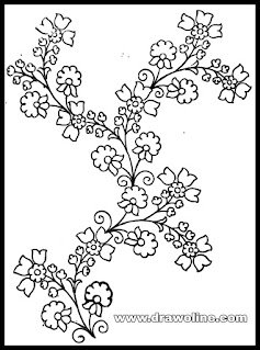Beautiful drawing for hand emroidery florals design by pencil sketches/simple draw process of embroidery design.