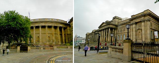 Fachada vitoriana da Biblioteca Central de Liverpool