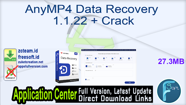 AnyMP4 Data Recovery 1.1.22 + Crack_ ZcTeam.id