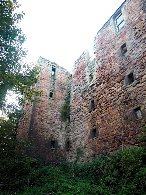Roslin Castle in Roslin Glen, near Edinburgh, Scotland
