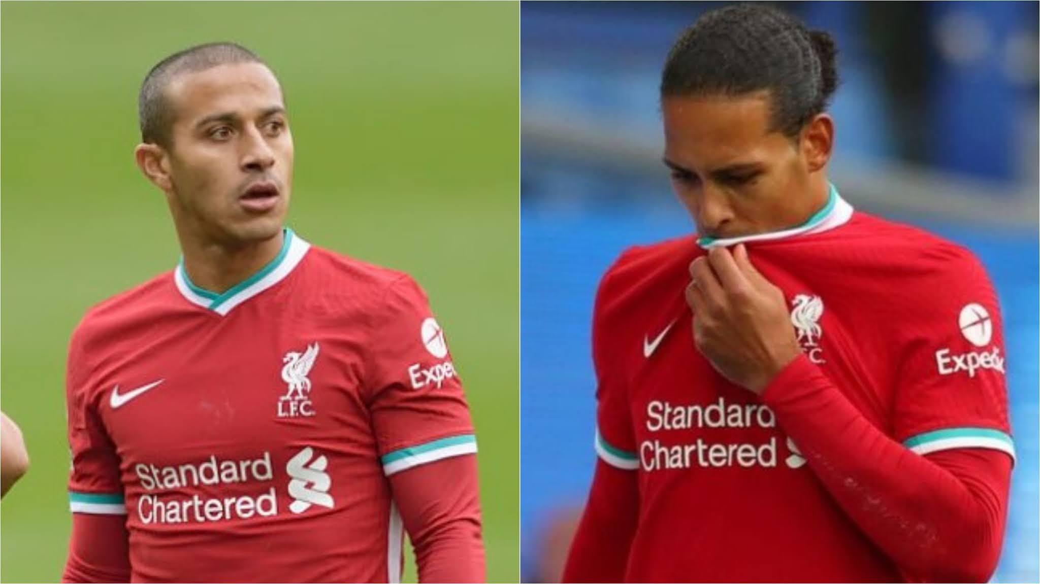Virgil van Dijk and Thiago Alcantara may return early from injury.