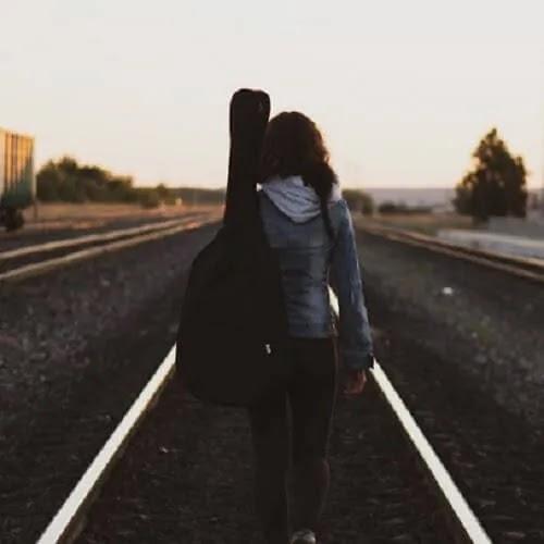walking alone girl DP