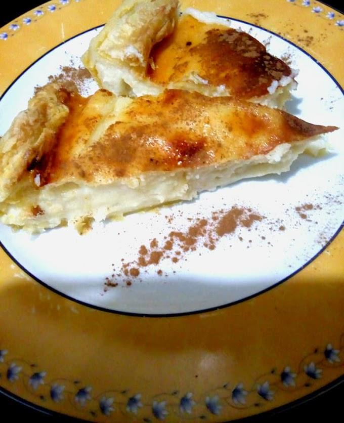 Γαλατόπιτα με φύλλο σφολιάτας και υπέροχη κρέμα