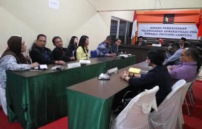 Kecewa Dengan Keputusan Bawaslu Lampung, Kuasa Hukum Paslon 1 Akan Lakukan Banding ke Bawaslu RI