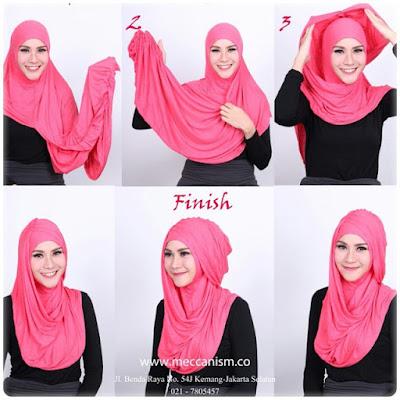 Hijab Ala Zaskia Adya Mecca Pashmina Polos