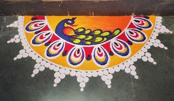 Deepavali Rangoli Design kaise kare - दीपावली की रंगोली kaise banaye?